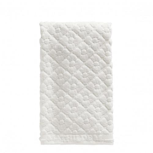 Serviette de toilette Douceur Florale blanc
