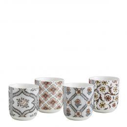 Set de 4 tasses à café Madame de Pompadour