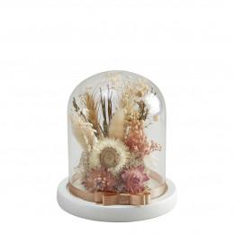 Cloche de fleurs séchées Cabinet des Merveilles - Petit modèle