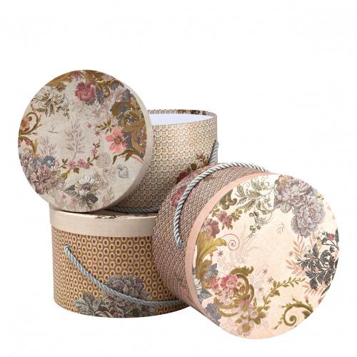 Set de 3 boîtes à chapeaux Cabinet des Merveilles